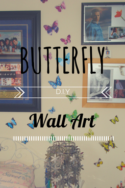 Butterfly Wall Art DIY Craft project in under 20 minutes clairewade.com