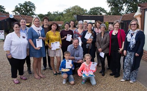 The winners and judges of the Wroxham Barns Scone Competition