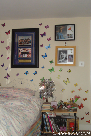 Finished - Butterfly Wall Art DIY Craft project in under 20 minutes clairewade.com