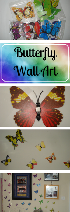 How to - Butterfly Wall Art DIY Craft project in under 20 minutes clairewade.com