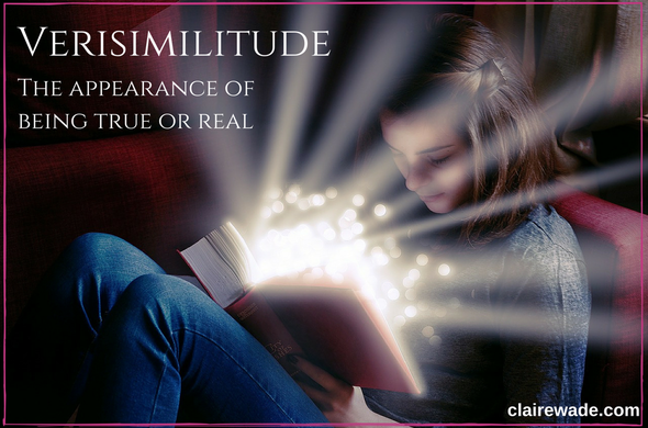 Verisimilitude means the appearance of being true or real: 'the detail gives the novel some verisimilitude'. clairewade.com
